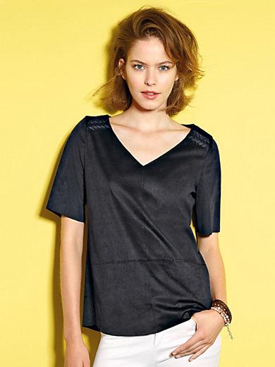 Looxent - Bluse aus softem, waschbarem Velourleder-Imitat