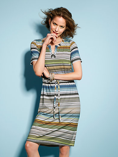 Looxent - Dress with short sleeves and tie belt