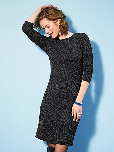 Looxent - Jersey dress with 3/.4-length sleeves