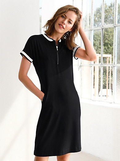Looxent - Jersey dress with cap sleeves
