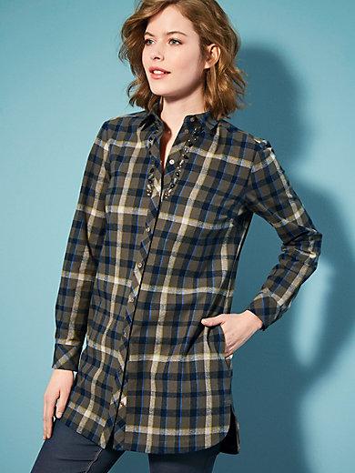 Looxent - La chemise à carreaux en pure flanelle de coton