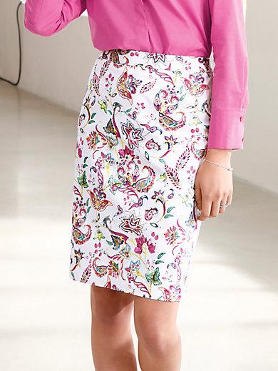 Looxent - La jupe en coton stretch imprimé, ligne droite