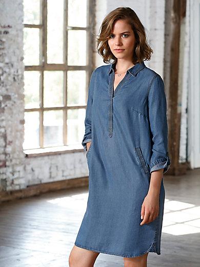 Looxent - La robe denim, ligne fluide, manches à retrousser