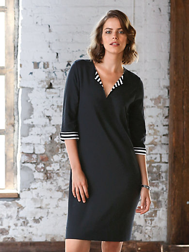Looxent - La robe en jersey, manches 3/4, ligne décontractée