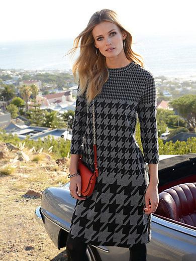 Looxent - La robe en jersey, motif pied-de-coq revisité