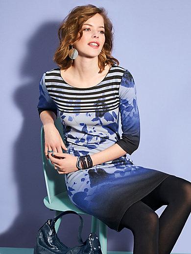 Looxent - La robe imprimée en jersey, manches 3/4