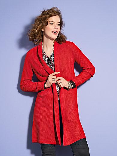 Looxent - Le manteau en maille, col châle, ligne ouverte