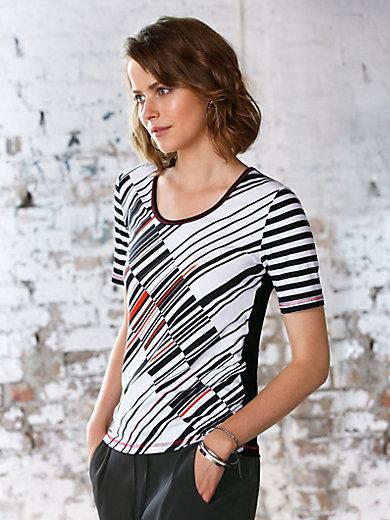 Looxent - Le T-shirt imprimé, manches rayées et dos uni