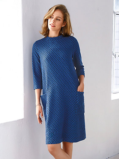 Looxent - Pull-on jersey dress with stand-up collar