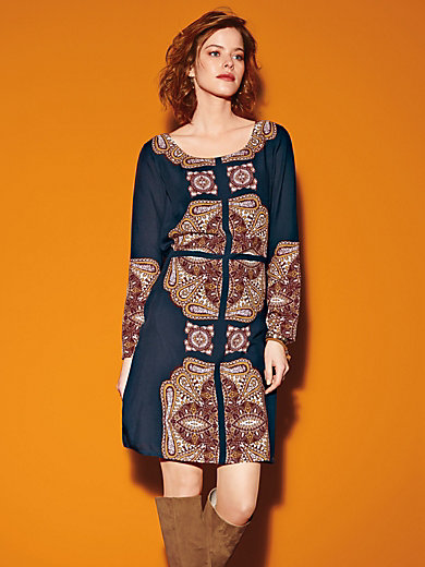 Looxent - Round neck dress in 100% viscose