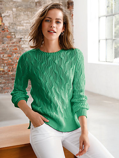 Looxent - Round neck pullover in 100% SUPIMA® cotton