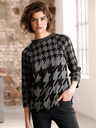 Looxent - Round neck top with 3/4-length sleeves