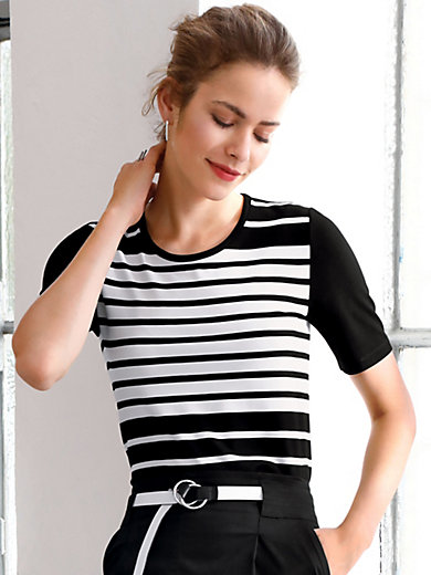 Looxent - Round neck top with short sleeves