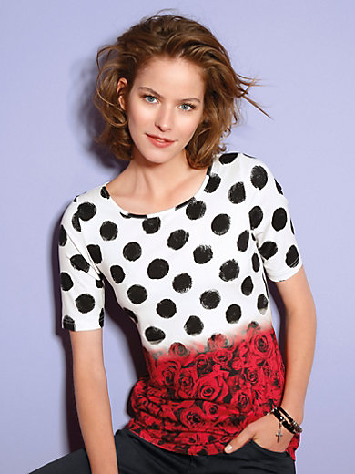 Looxent - Rundhals-Shirt mit 1/2-Arm im modischen Dessin-Mix
