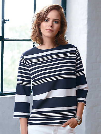 Looxent - Shirt met ronde hals en driekwartmouwen