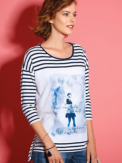 Looxent - Shirt, Rückteil schmeichelnd pfeilförmig gestreift