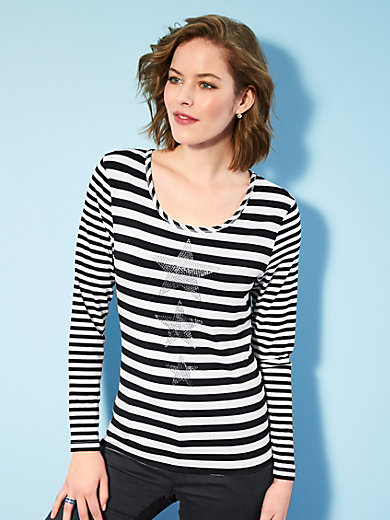 Looxent - Striped top with dazzling sequins