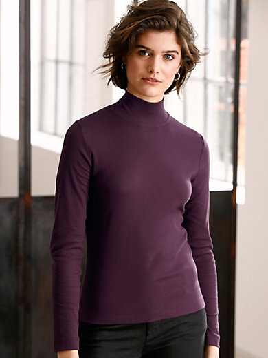 Looxent - Top with stand-up collar