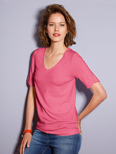 Looxent - V-neck top with short sleeves