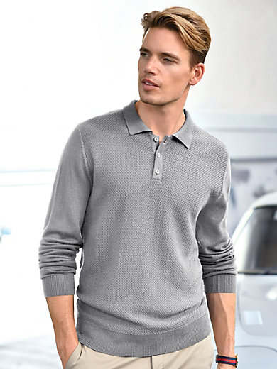 Louis Sayn - Polo-Pullover aus 100% Schurwolle-Biella Yarn