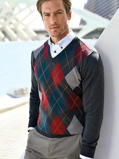 Louis Sayn - V-Pullover aus 100% Schurwolle-Merino