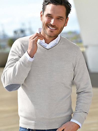 Louis Sayn - V-Pullover aus 100% Schurwolle von Biella Yarn