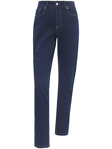 mac jeans melanie mit schmaler taille inch l nge 32 dark. Black Bedroom Furniture Sets. Home Design Ideas