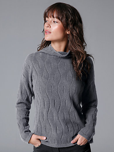 MAERZ Muenchen - Cable knit jumper in 100% virgin wool