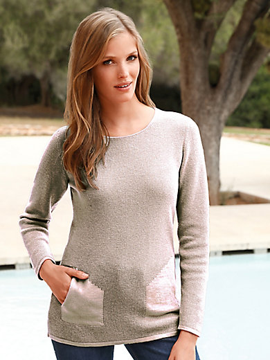 MAERZ Muenchen - Round neck jumper in 100% new milled wool