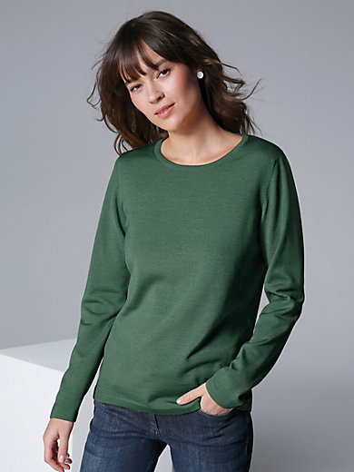 MAERZ Muenchen - Rundhals-Pullover aus 100% Schurwolle