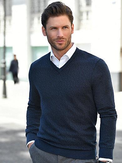 MAERZ Muenchen - V-Pullover aus 100% Schurwolle-Merino