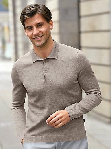 MAERZ - Polo-Pullover aus 100% Schurwolle-Merino