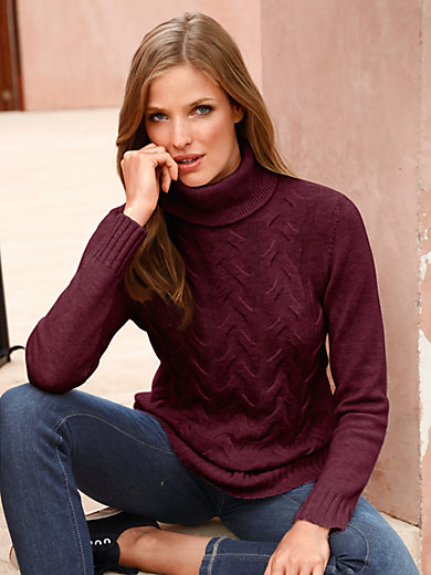 MAERZ - Rollkragen-Pullover aus 100% Schurwolle Merino