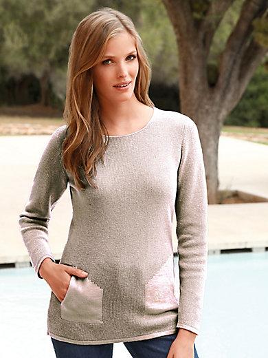 MAERZ - Round neck jumper in 100% new milled wool