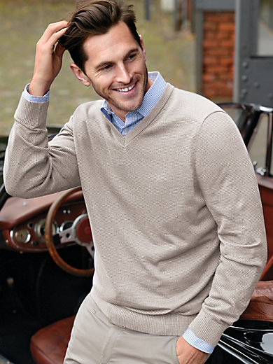 MAERZ-V neck pullover-beige