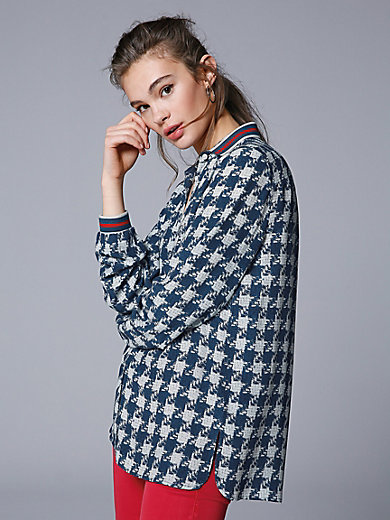 Marc Aurel - Blouse with houndstooth pattern