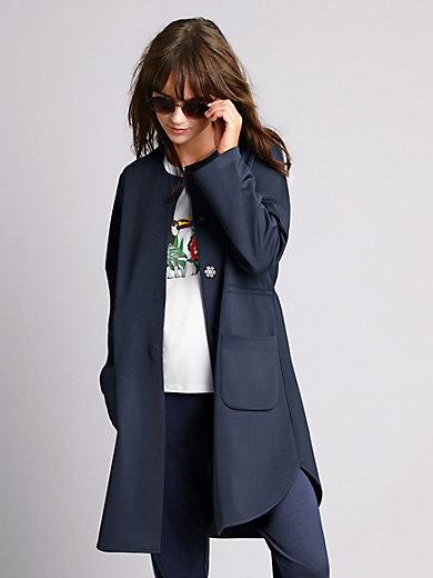 e88c0ddf84eb Margittes - Lång sweatshirtjacka med fickor - Marin