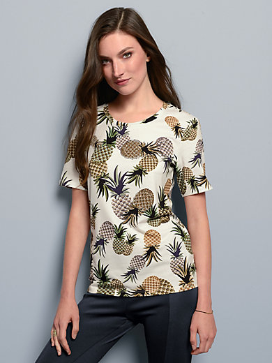 Margittes - Round neck top with short sleeves