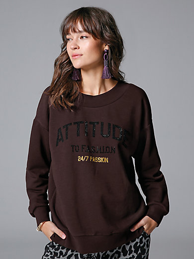 Margittes - Sweatshirt with rhinestones