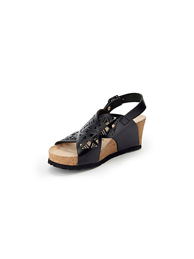 Lea sandals in 100% leather Mephisto black Mephisto