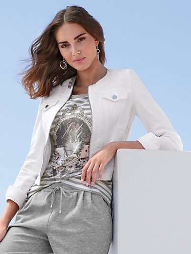 MYBC - Jeansjacke mit Rundhals-Ausschnitt