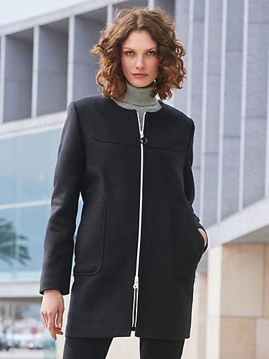 MYBC - Long-Jacke mit Rundhals-Ausschnitt