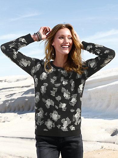 MYBC - Rundhals-Pullover mit überschnittener Schulter