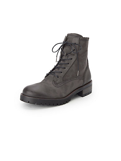 e82cfac845f9c Paul Green - Lace-up ankle boots in 100% leather - dark grey