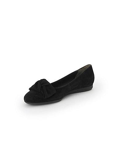 Les ballerines en cuir, nœud décoratif Paul Green noir