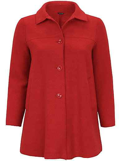Persona by Marina Rinaldi - Milled wool coat with modern outward-facing seams