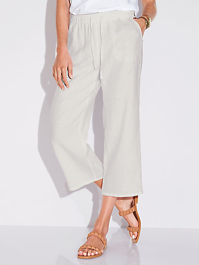 Peter Hahn - 7/8-length pull-on trousers in 100% linen