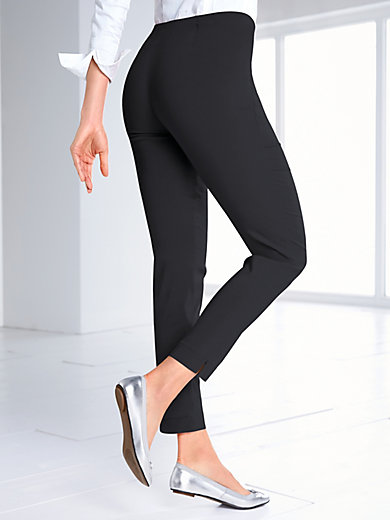 Ankle-length slip-on trousers Peter Hahn grey Peter Hahn
