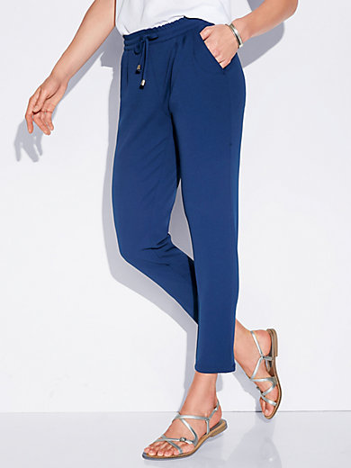 Peter Hahn - Ankle-length trousers in slip-on jogger style