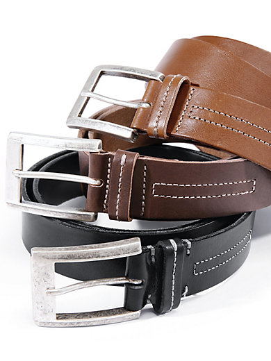 Cowhide leather belt Peter Hahn brown Peter Hahn o5ACWdHK